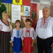 Familia Leahu, soțul și nepoțelele absolventei Lidia Golban