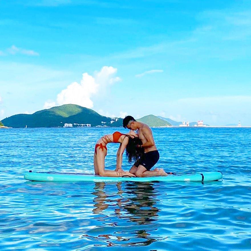 【梅窩好去處】體驗SUP瑜珈+梅窩美食遊!-梅窩水上活動 水上瑜珈 SUP瑜珈