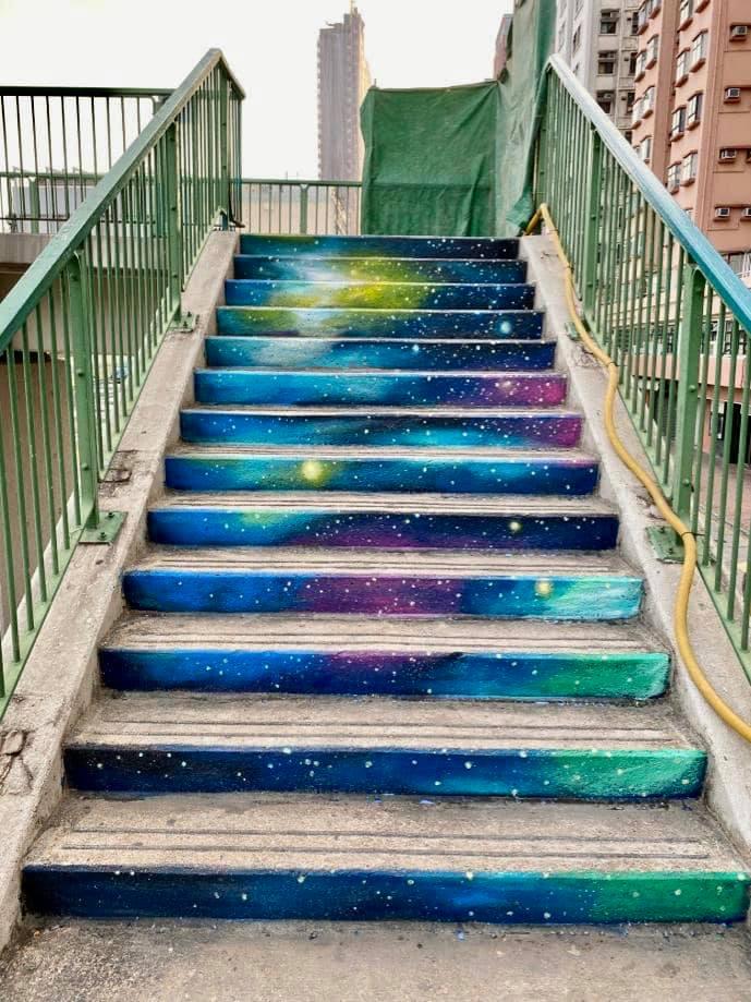 【香港好去處】17個香港壁畫打卡點─香港壁畫村、壁畫街、街頭藝術──香港街頭藝術──土瓜灣樓梯