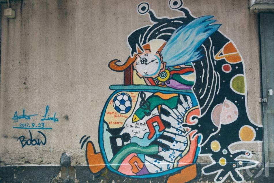 【香港好去處】17個香港壁畫打卡點─香港壁畫村、壁畫街、街頭藝術──香港街頭藝術──觀塘「街後」The Backstreet