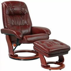Leather Swivel Recliner Chair And Ottoman Folding Chairs At Lowes How To Choose The Best Kyle Ruby Faux With