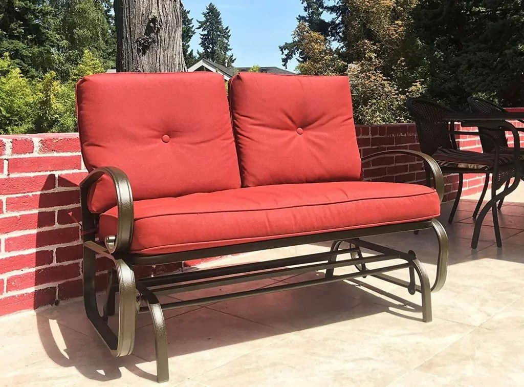 Patio Makeover: Outdoor Loveseat Glider