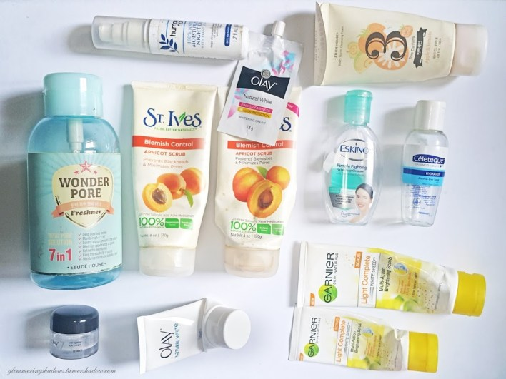 Empties - face products