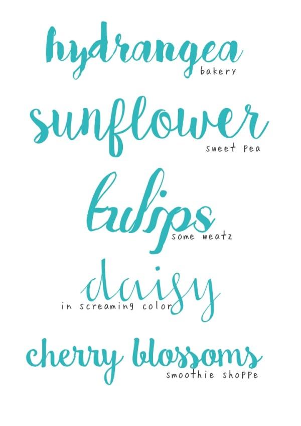 sweet pea font # 16