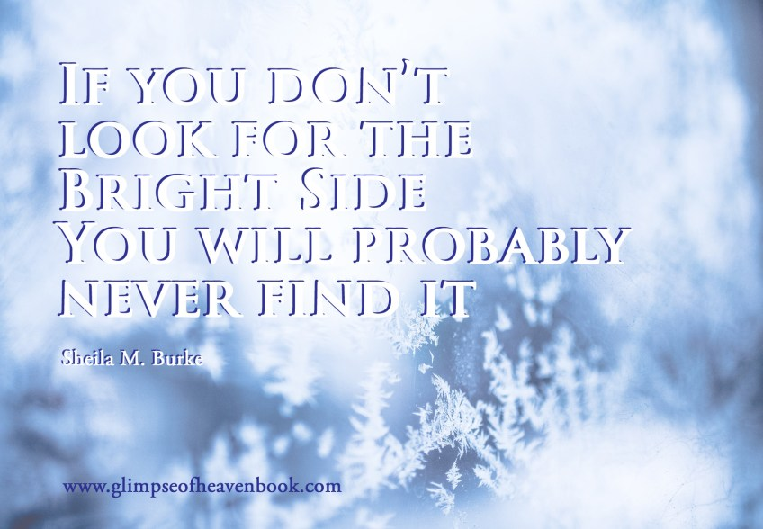 If you don't look for the Bright Side You will probably never find it
