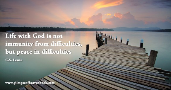 Life with God is not immunity from difficulties, but peace in difficulties   C.S. Lewis