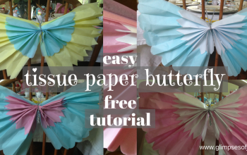 Easy Tissue Paper Butterfly Free Tutorial