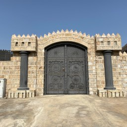 Door of Al Naqbi Tower at Khatt, Ras al Khaimah