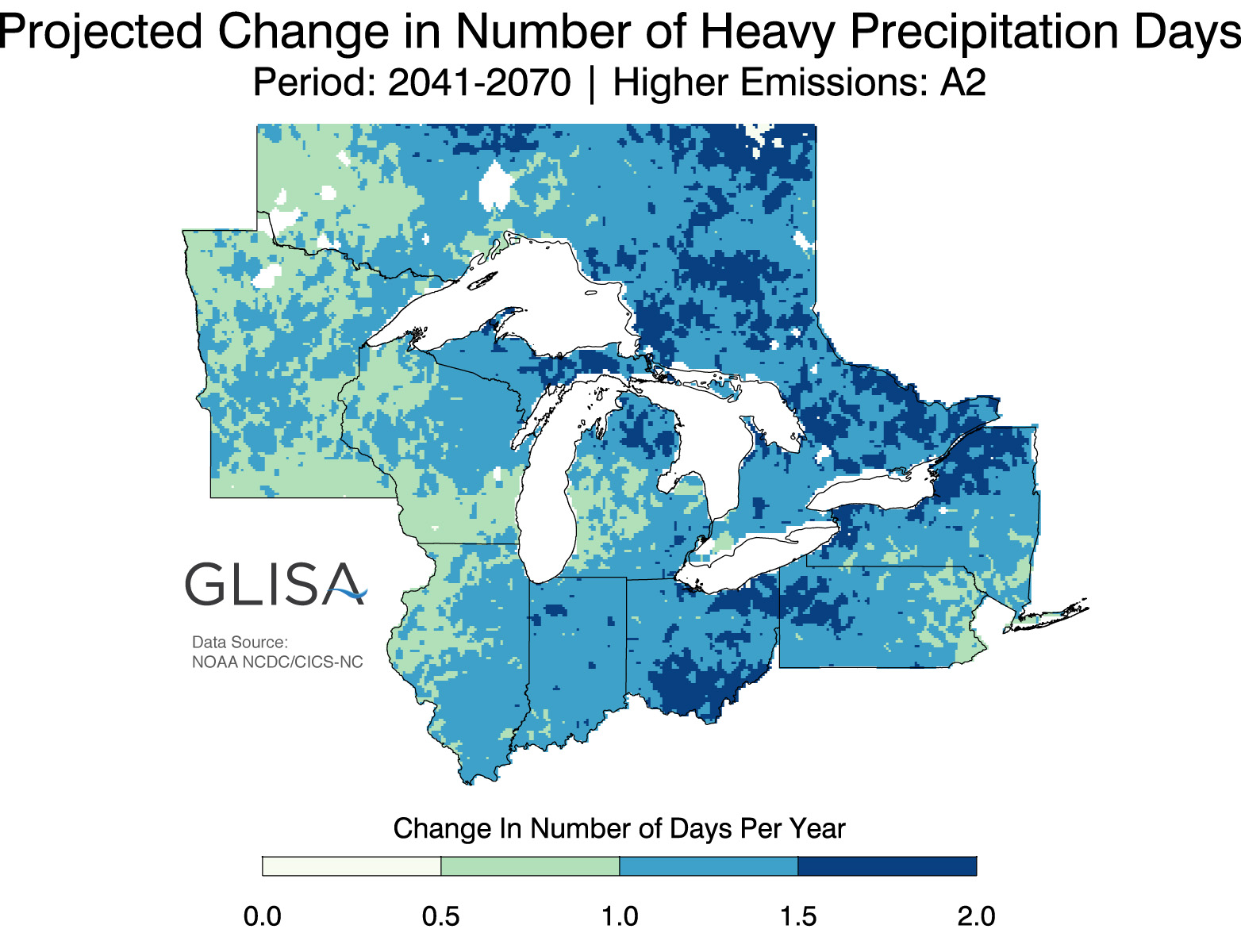 Great Lakes Regional Climate Change Maps