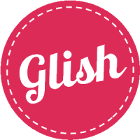 Glish Sticker_Large-Pink-Left