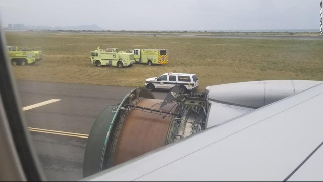 Scary landing after United flight loses engine cover via Trumpcarekills