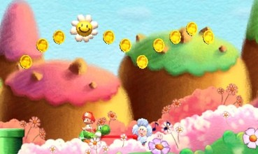 Only a floating jump can reach those coins.