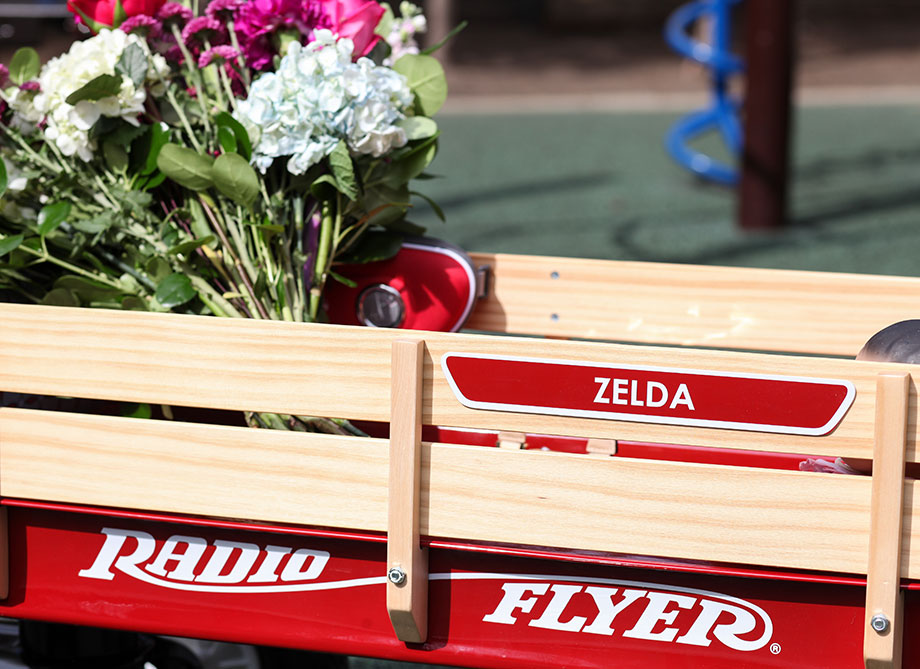 A mother daughter fashion post with Radio Flyer by Glitter and Bubbles.