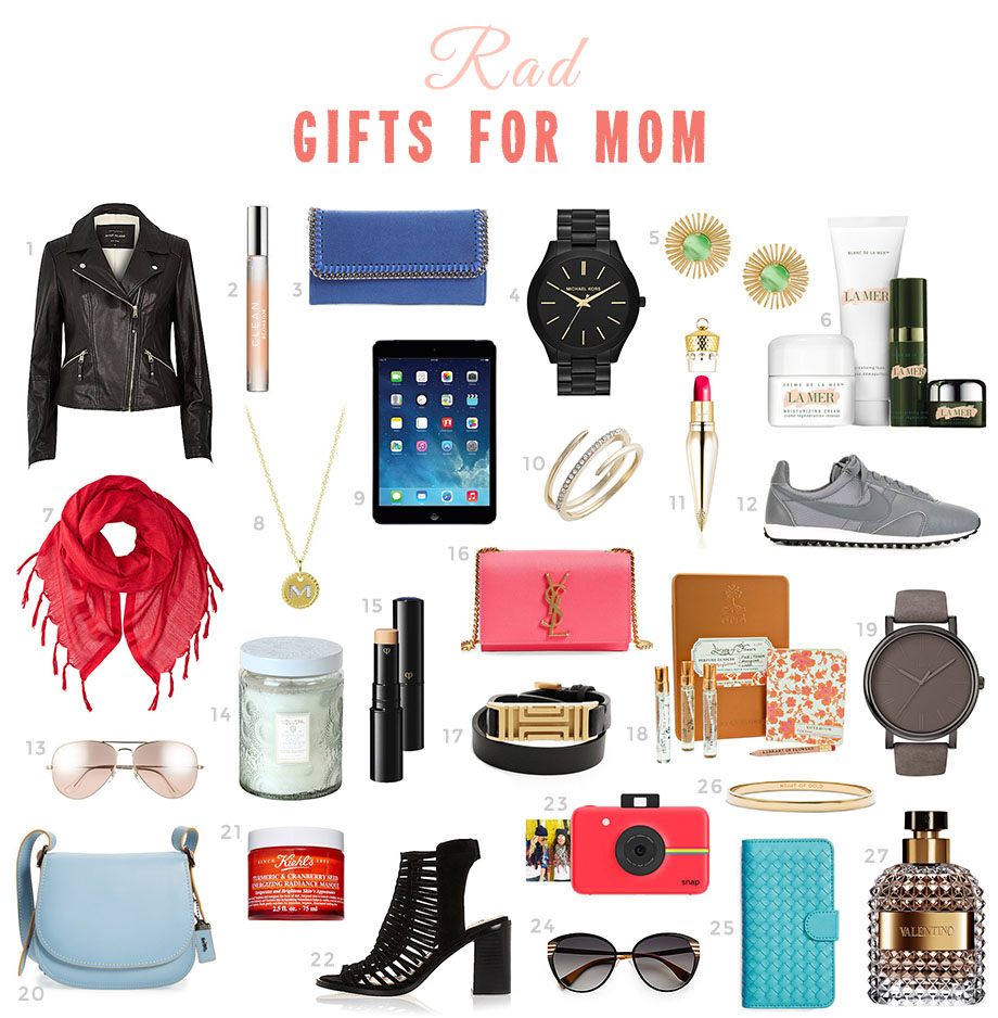 This is a Mother's Day gift guide by Glitter and Bubbles.