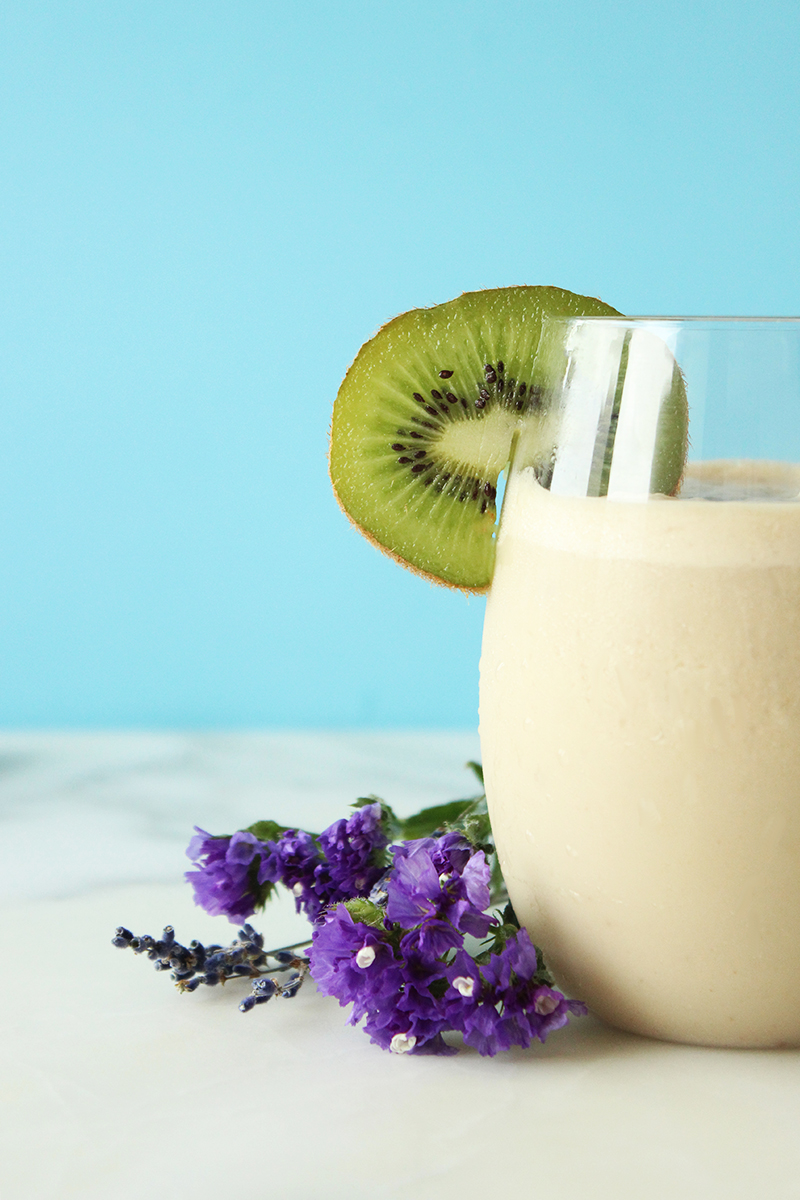 This is a recipe for a Morning Protein Shake by Emily Frame for Glitter and Bubbles.
