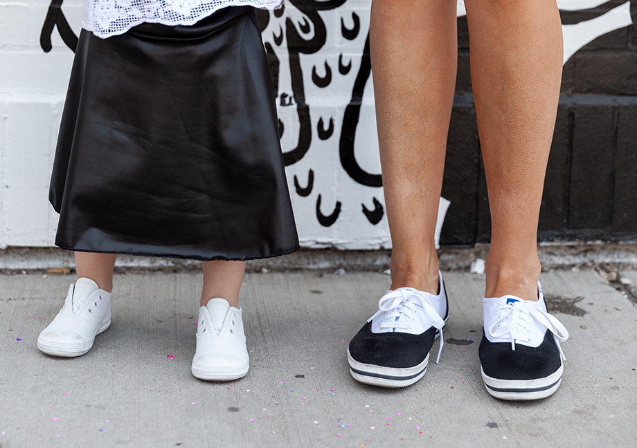 This is a mini and me post by Glitter and Bubbles featuring custom Keds.