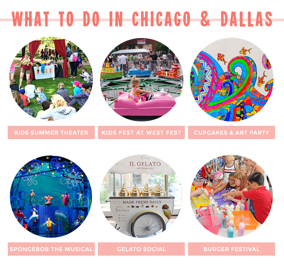 This is a post by Glitter and Bubbles that features children's activities in Chicago and Dallas.