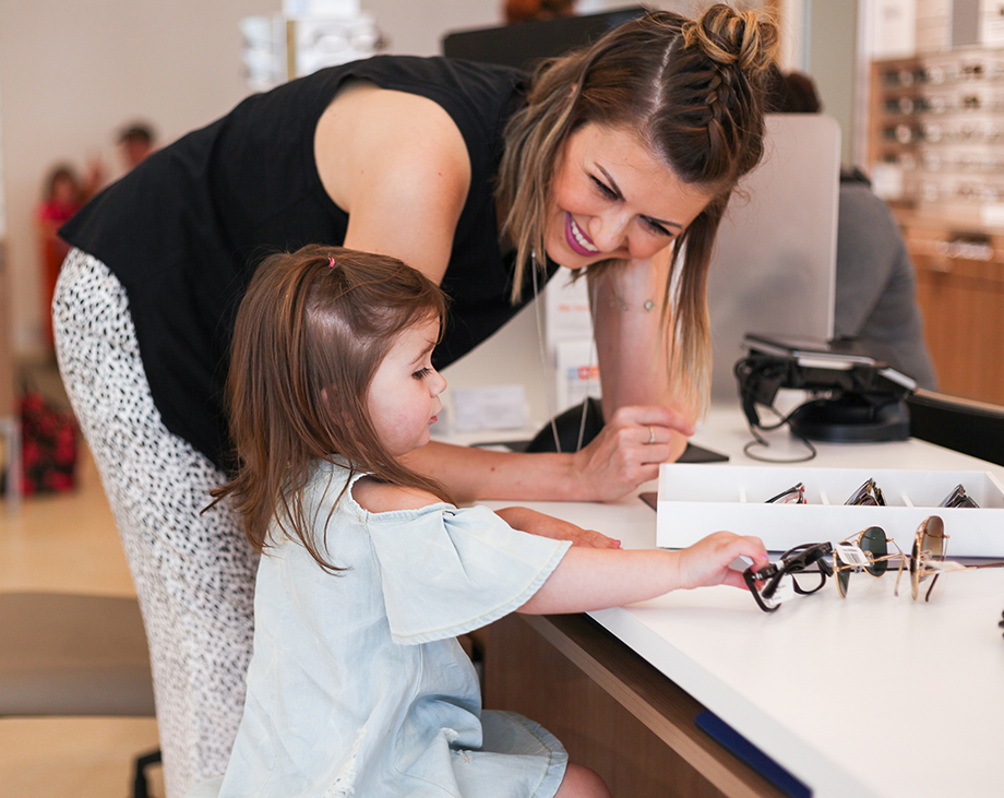 This post by Glitter and Bubbles features the Clarifye Eye Exam at LensCrafters.