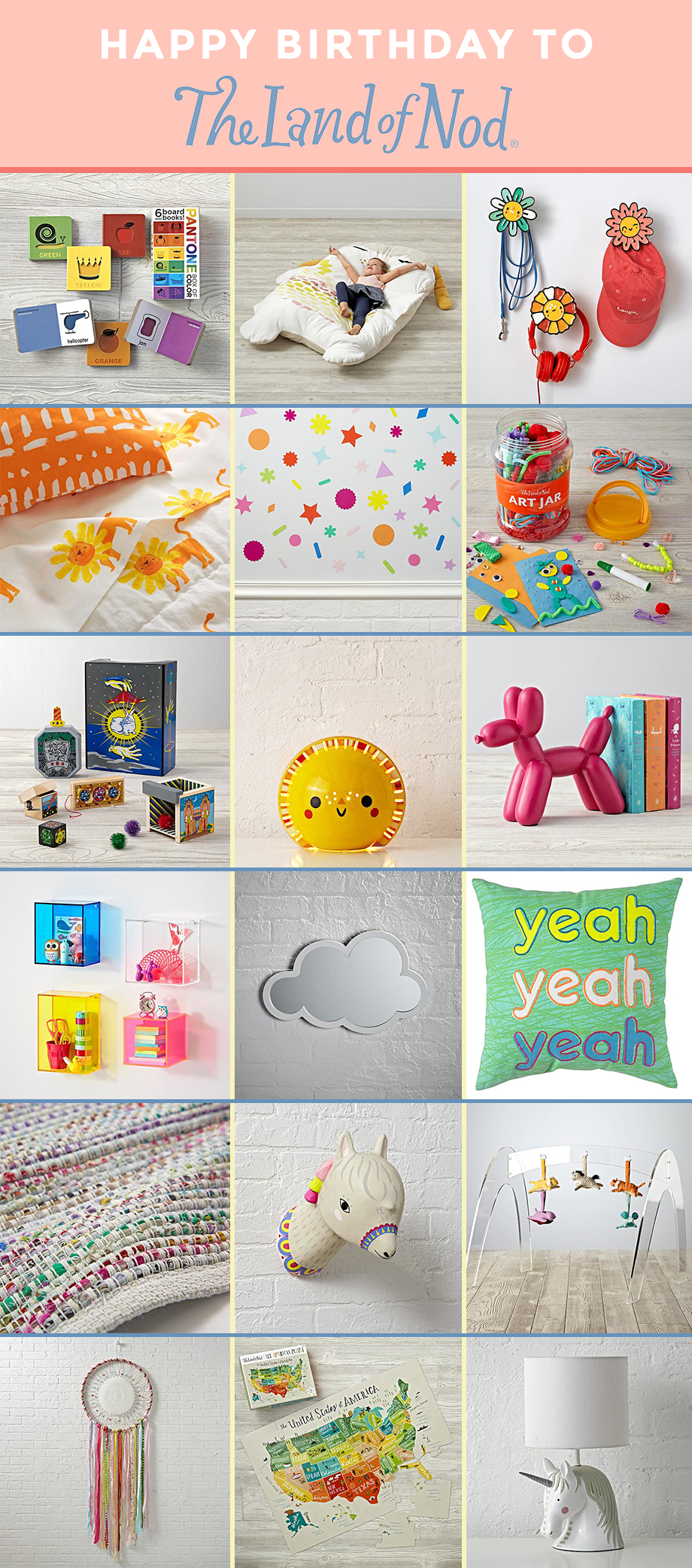 This is a post by Glitter and Bubbles that celebrates The Land of Nod's 20th birthday.