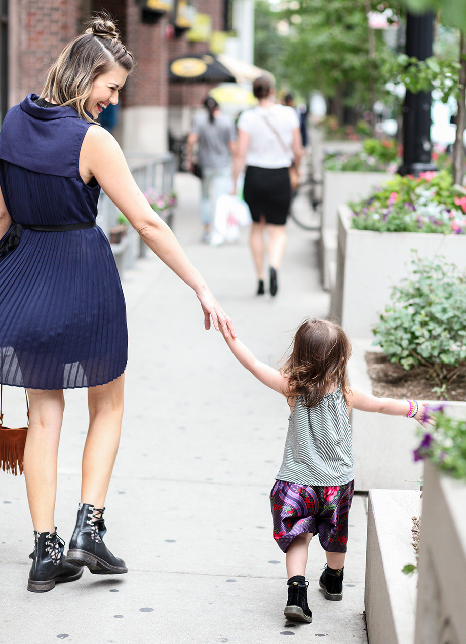 This is a mother daughter street style mini and me post by Glitter and Bubbles featuring Shop Buru and Redeux Kiz.