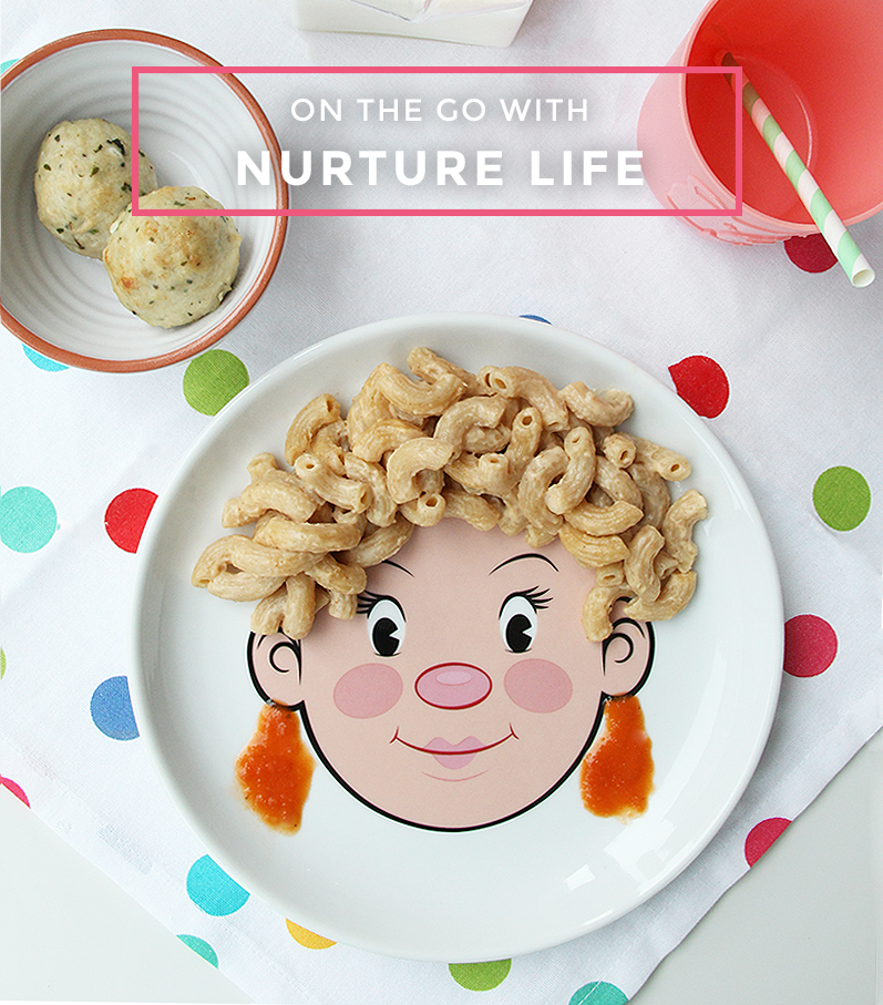 This post by Glitter and Bubbles features eating on the go with Nurture Life.