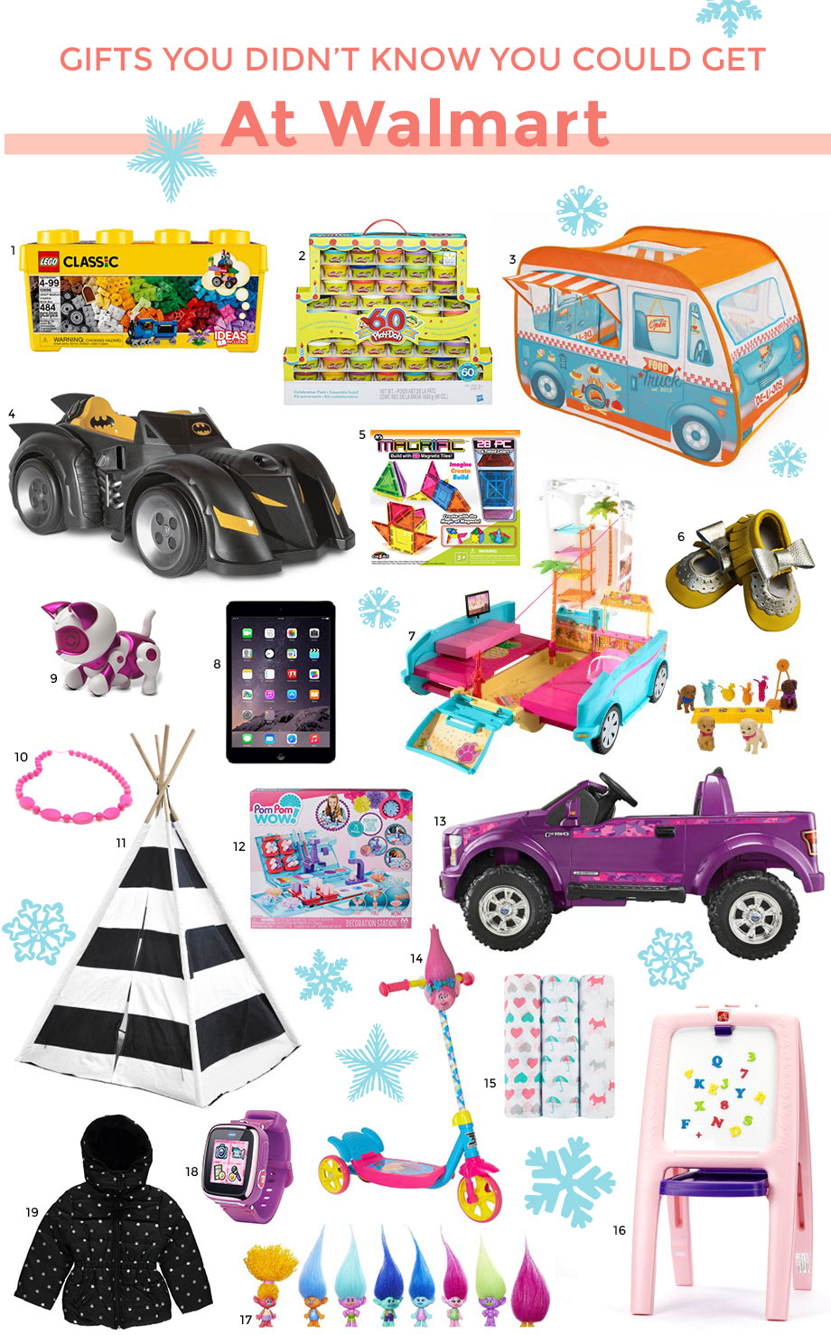 Children's gifts you didn't know you could get at Walmart.