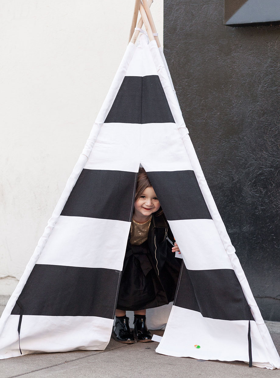 A black and white teepee from Walmart.
