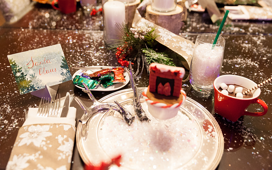 A holiday table at the Swissotel.