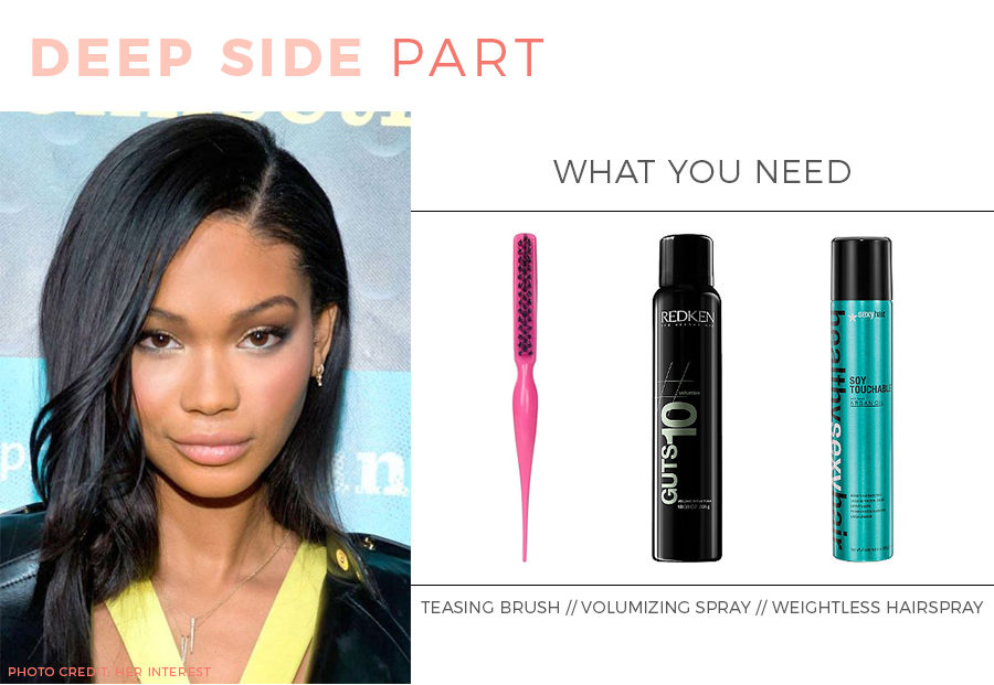 Beauty tutorial: How to wear a deep side part.