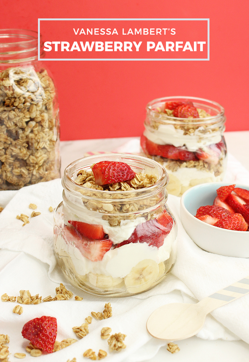 An easy and delicious recipe for a strawberry yogurt parfait.