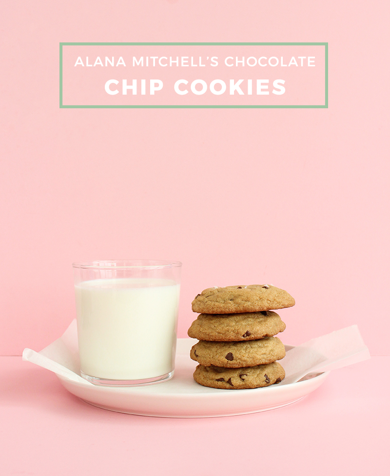 Alana Mitchell's recipe for delicious chocolate chip cookies.