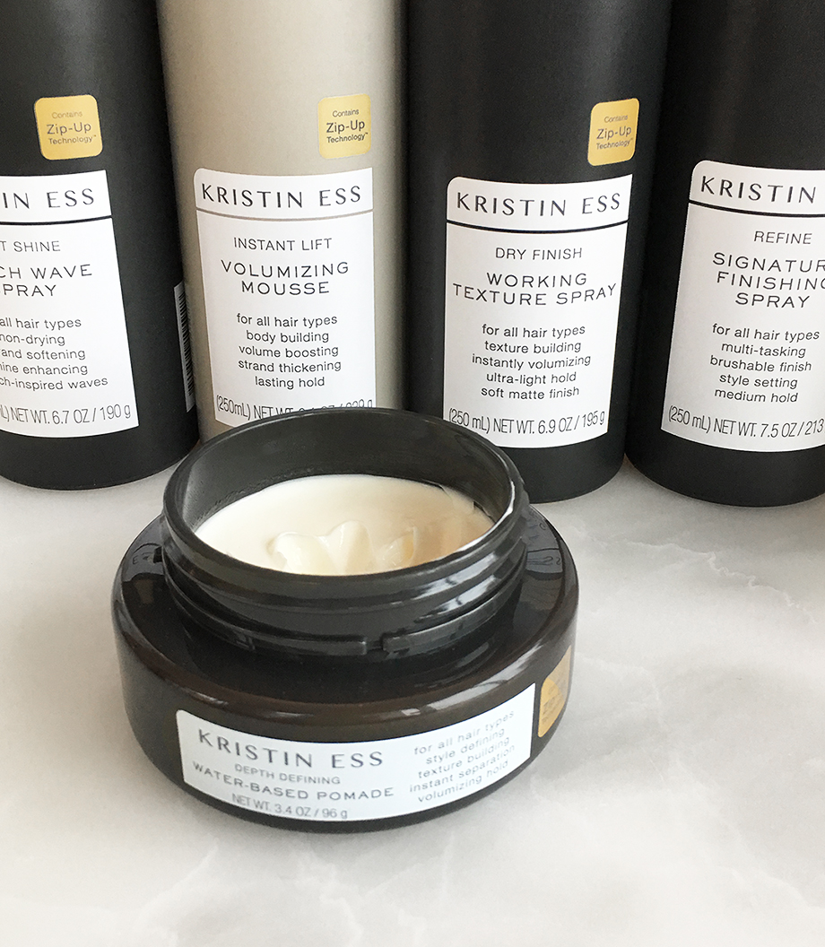 Kristin Ess hair products.