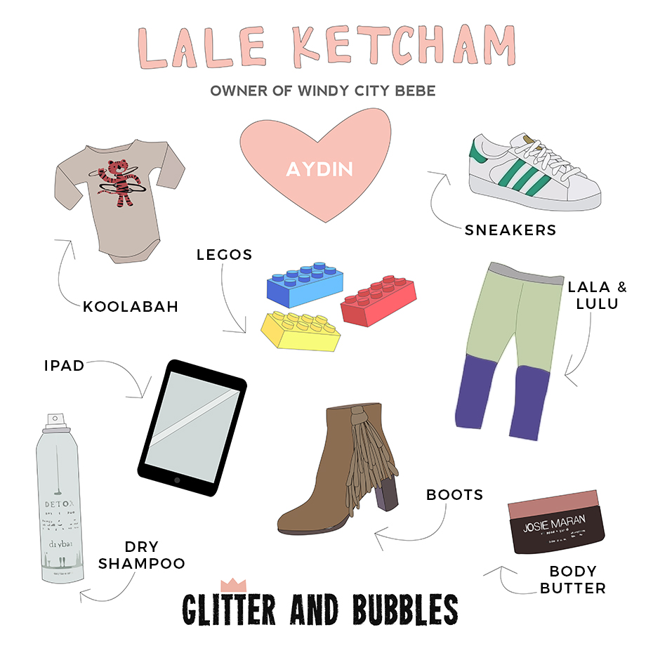 Lale Ketcham of Windy City Bebe is Glitter and Bubbles' newest Rad Mom.