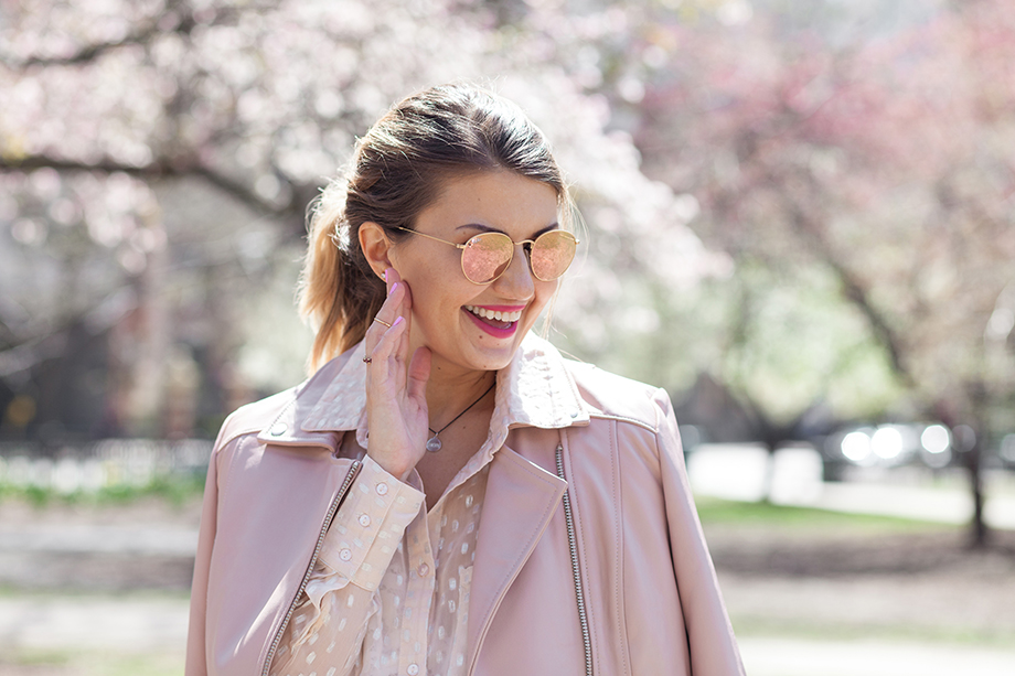 A pastel pink springtime outfit from Long Tall Sally.