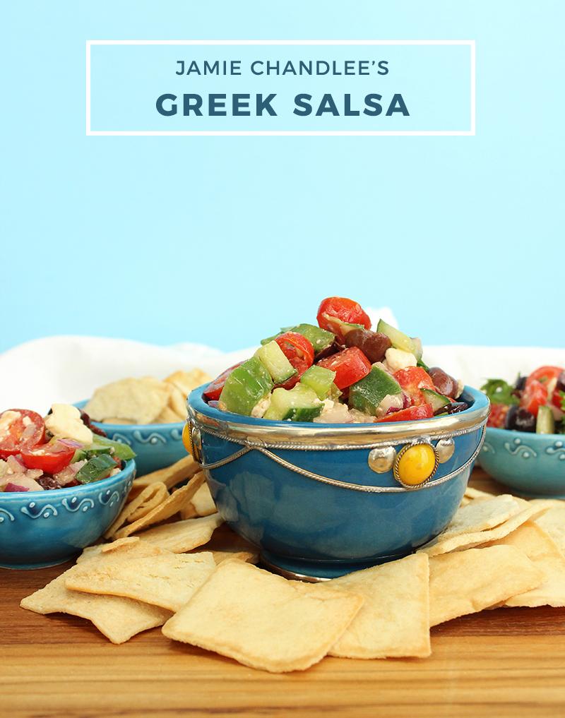 Jamie Chandlee's Greek Salsa recipe.