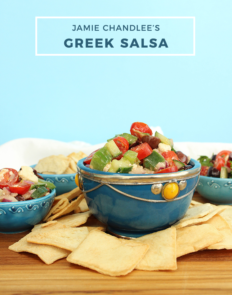 Jamie Chandlee's Greek Salsa recipe.