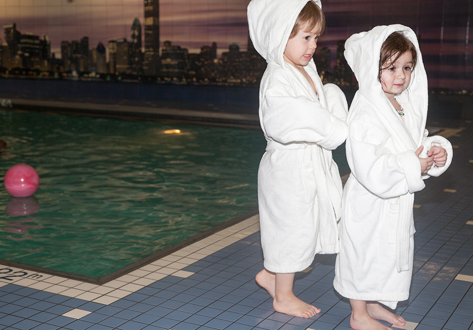 Terrycloth robes at the Swissotel Pool.