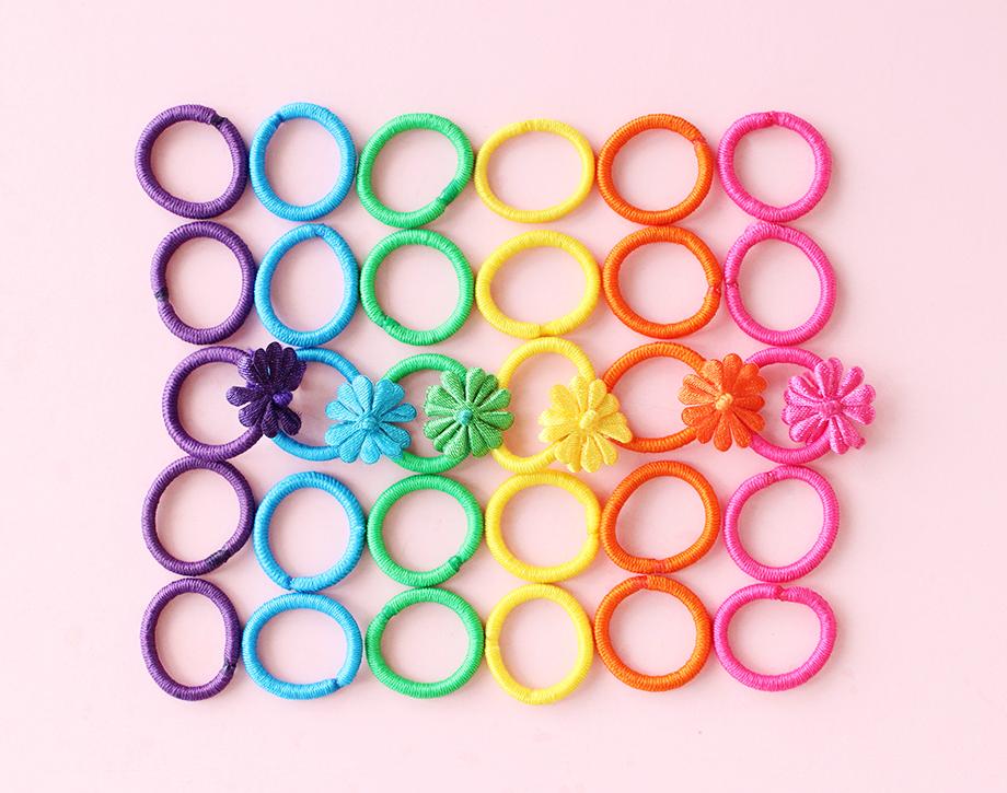 Goody rainbow hair ties.