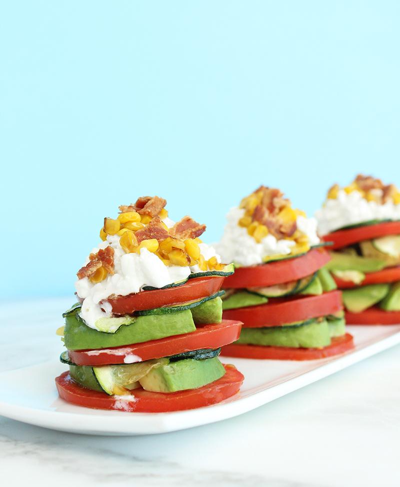 Tomato, Bacon & Avocado Stacks.