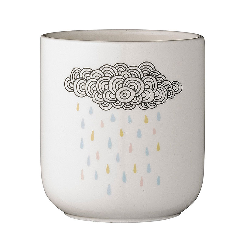 Ceramic flower pot.