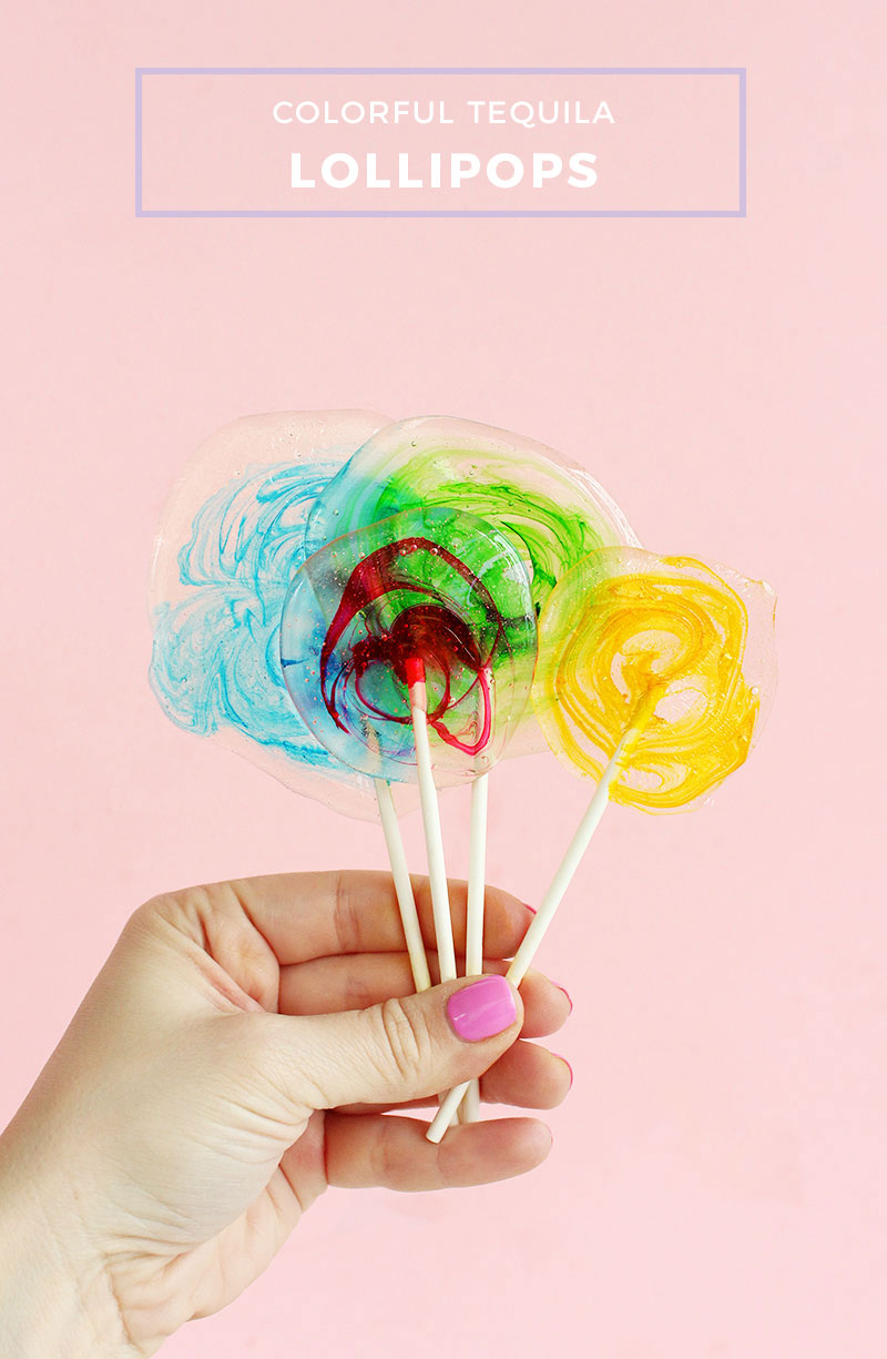 Make your own tequila lollipops at home.