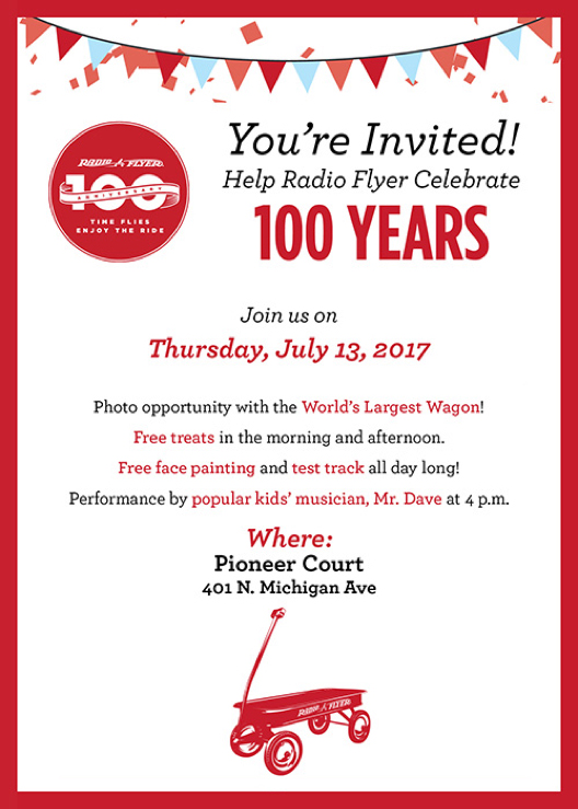 Radio Flyer's 100th Anniversary party.