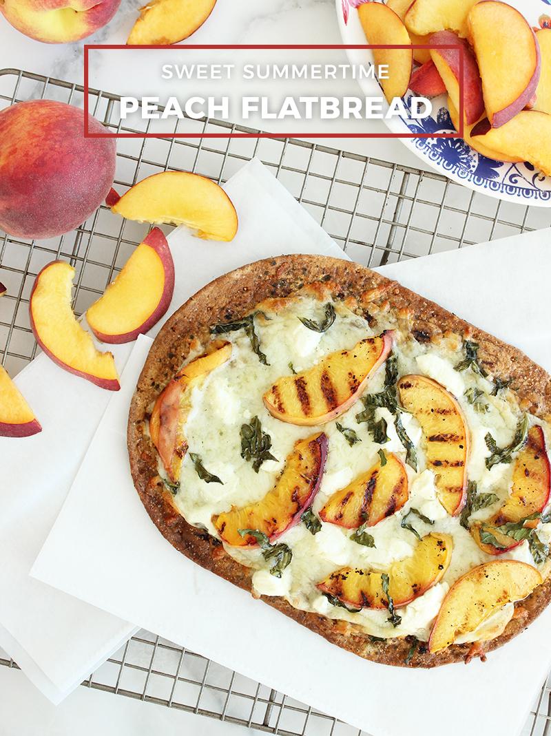 A simple and delicious recipe for peach flatbread.