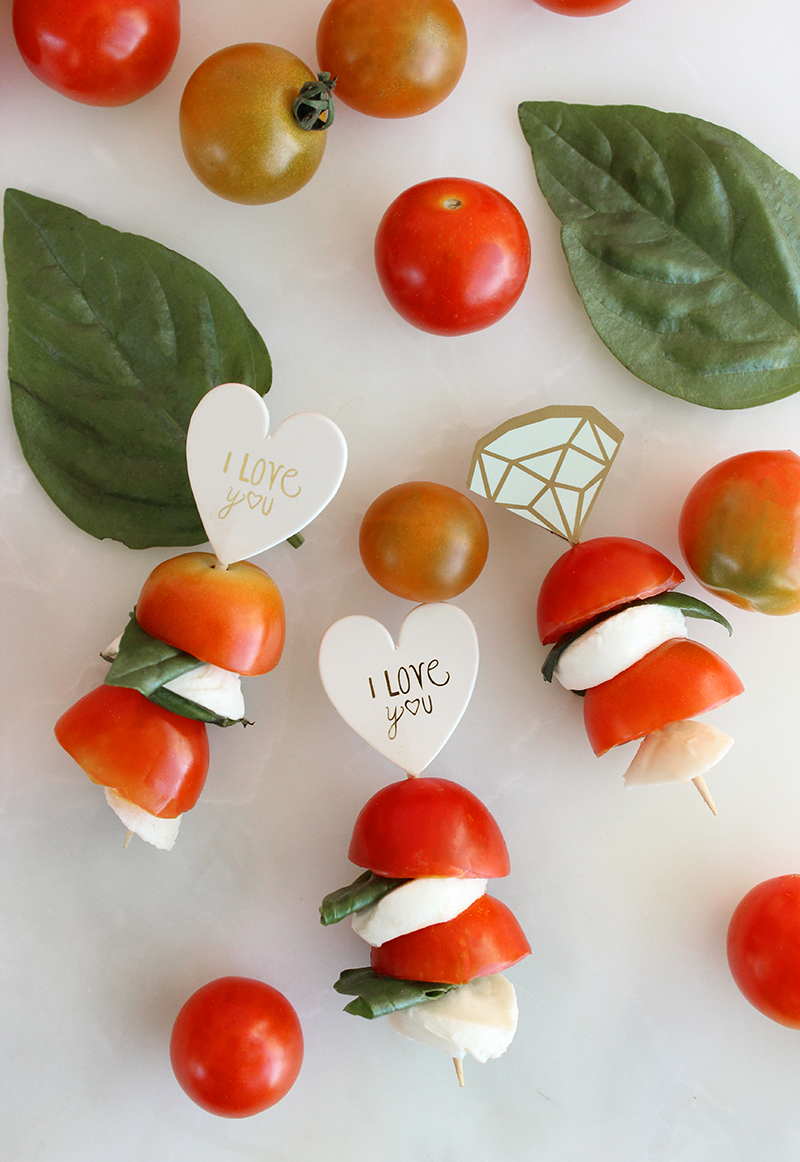 How to make caprese skewers for a do it yourself back to school lunchable.
