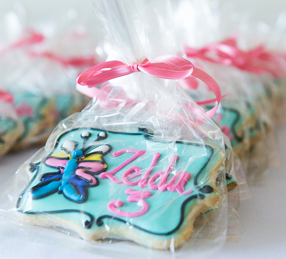 Custom sugar cookies for a kids birthday party.