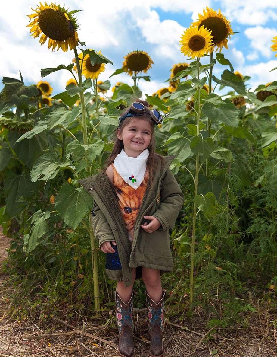 Pope Conservancy Sunflower Fields Zara Sequin Jacket.
