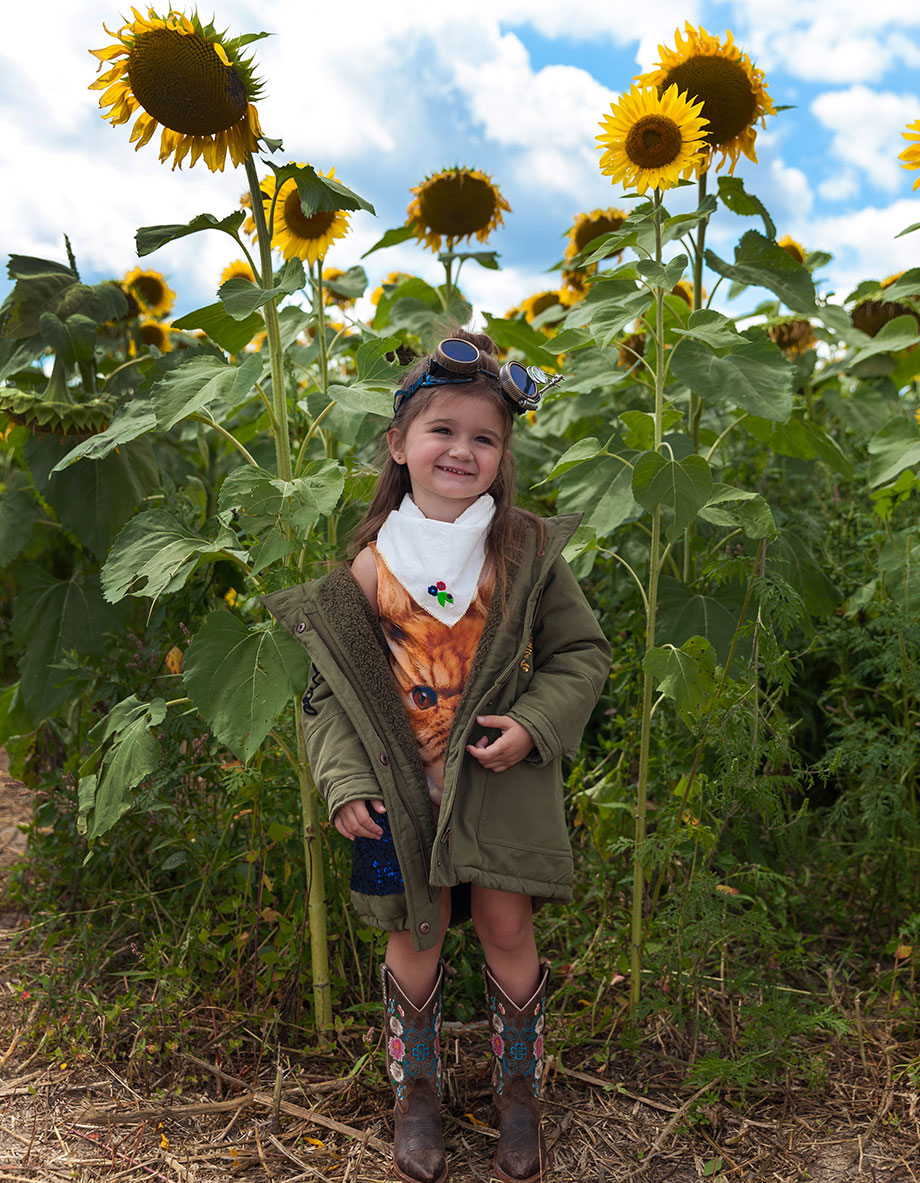 Pope Conservancy Sunflower Fields Zara Sequin Jacket.