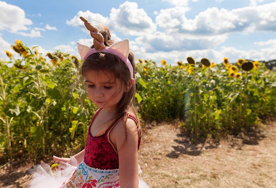 Girls unicorn headband for Burning Man.