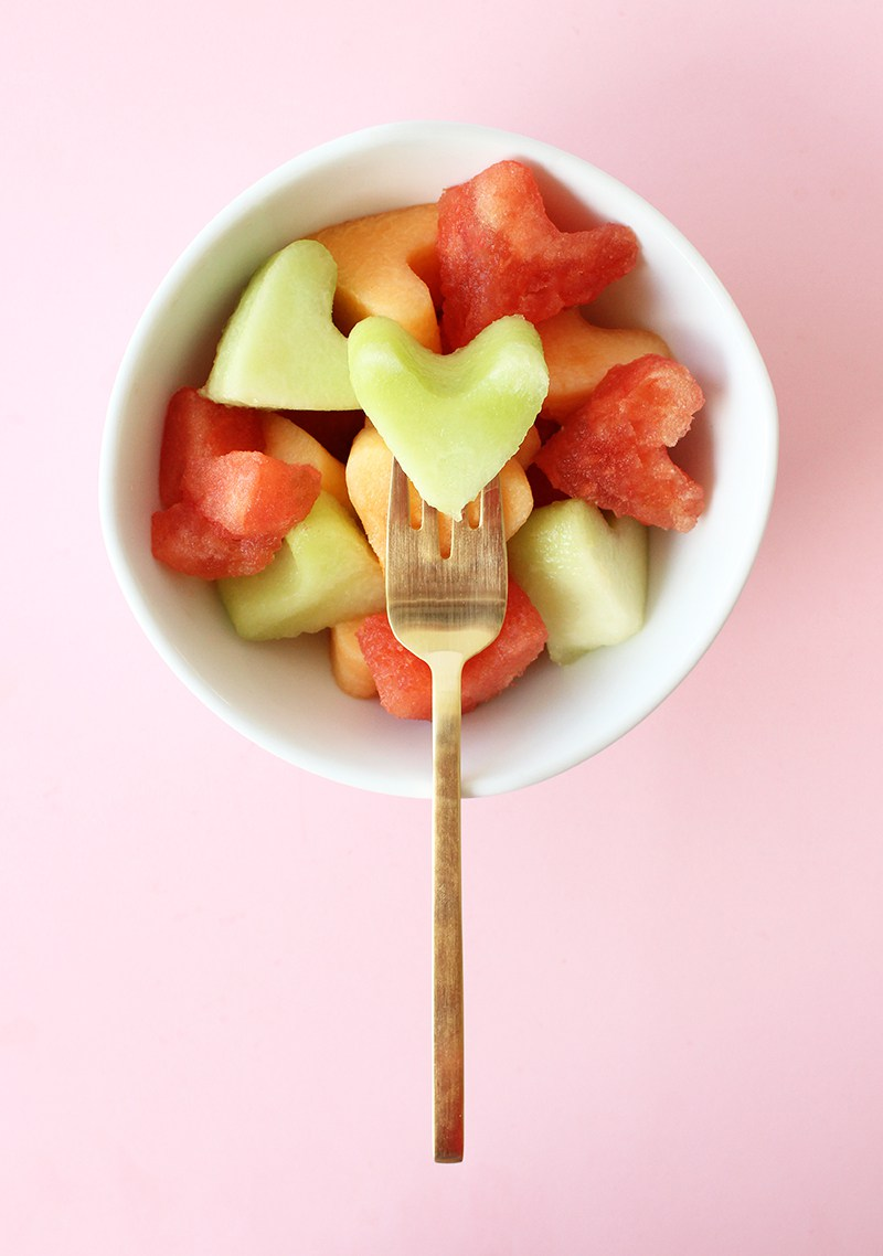 Back to school recipes for fruit hearts.