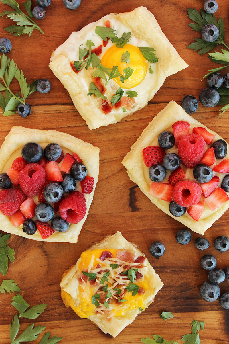 A quick and simple recipe for egg and fruit tarts with Handsome Brook Farm eggs.